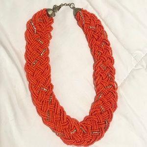 Women's Orange Statement Necklace